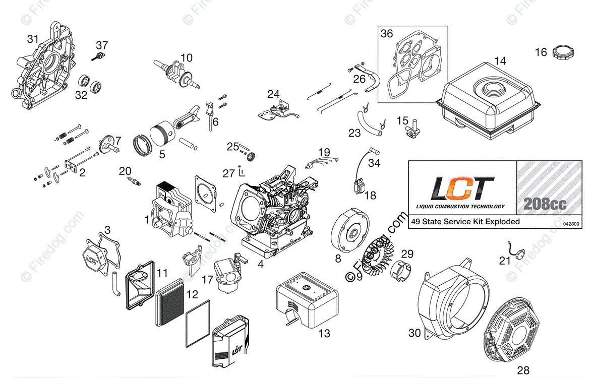 Husqvarna Tiller Rtt 900 96093000901 2009 04 Oem Parts Diagram Engine For
