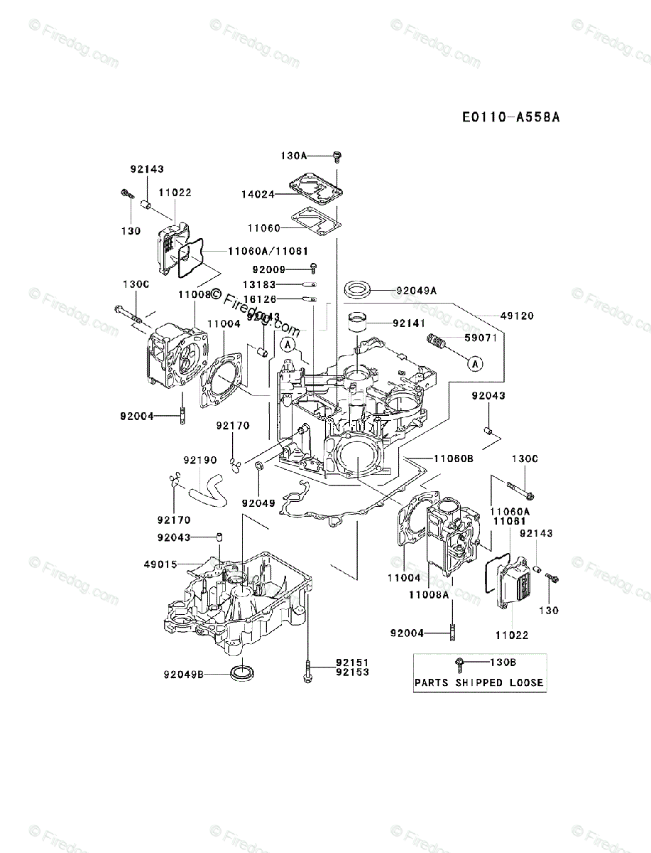 Kawasaki 4 Stroke Engine FD611V OEM Parts Diagram for ... on