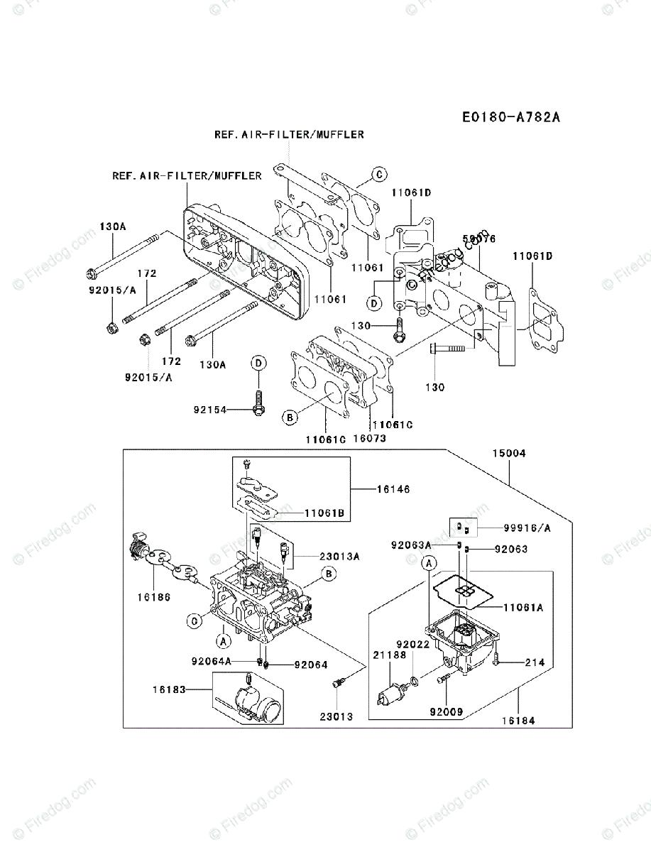 Kawasaki 4 Stroke Engine Fd731v Oem Parts Diagram For Carburetor