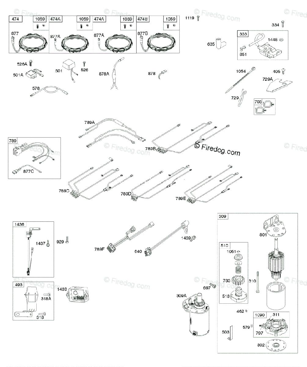 briggs and stratton key switch wiring diagram briggs   stratton 400000 699999 series 44m700 to 44m799 oem  briggs   stratton 400000 699999