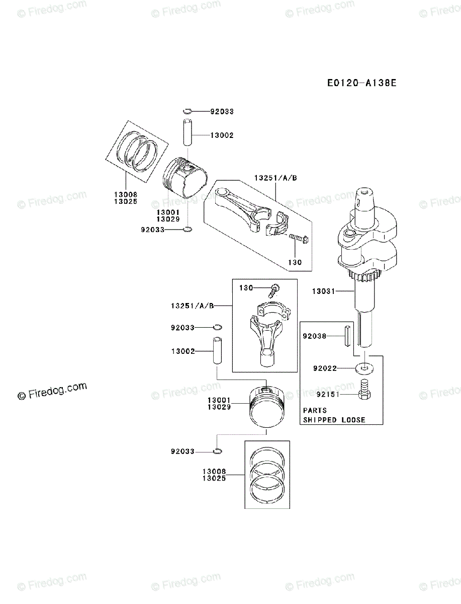 Kawasaki 4 Stroke Engine Fh500v Oem Parts Diagram For Piston Diagrams Crankshaft