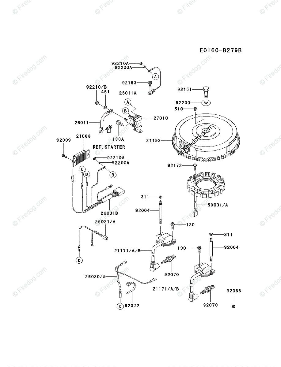 Wiring Diagram Voltage Regulator 21066 7011 Kawasaki Allis Chalmers 4 Stroke Engine Fh680v Oem Parts For Electric Rh Firedog Com On Toyota