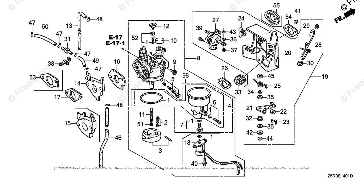Honda Engines Engine Gx Oem Parts Diagram For Carburetor 2 Firedog: Honda Gx 390 Engine Diagram At Daniellemon.com