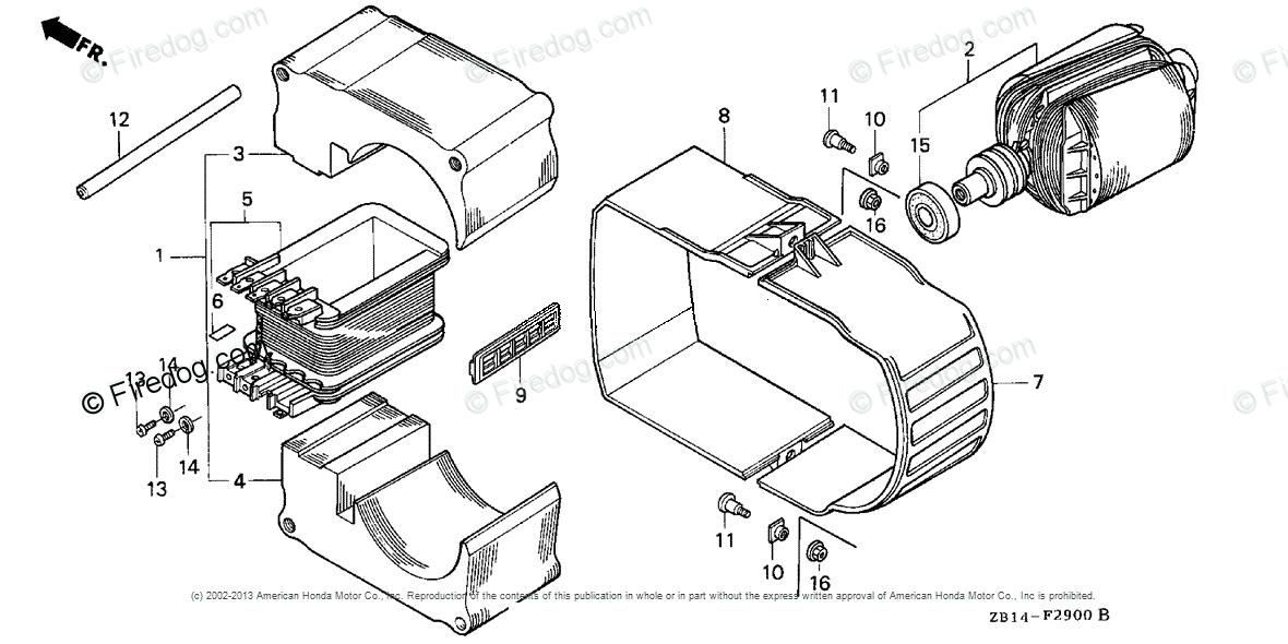 Honda Power Equipment Generator Eg1400xk1 A  B Generator