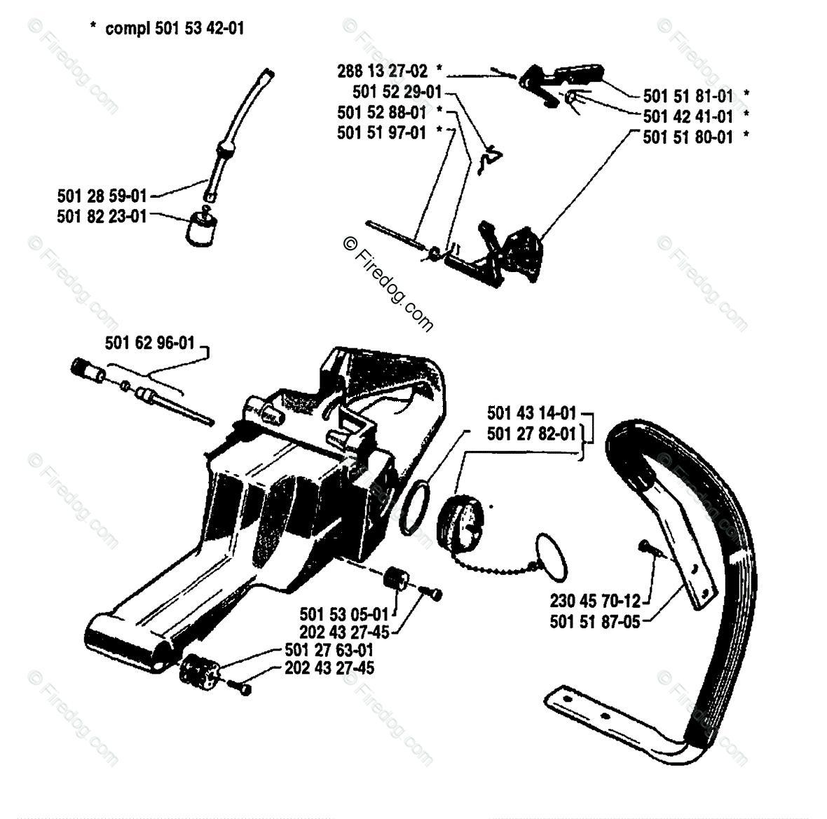 Husqvarna 350 Chainsaw 2004 Parts Diagram Page 9