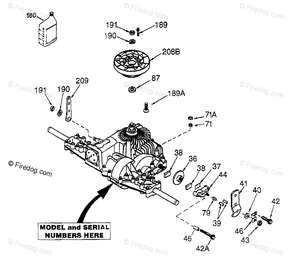 Husqvarna Ride Mower YTH 180 (HCYTH180C) (954140010) (1997