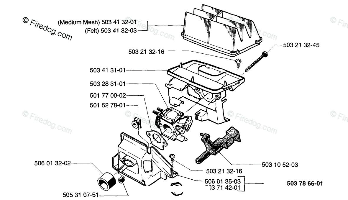 Husqvarna Chain Saw 49 (1996-01) OEM Parts Diagram for AIR