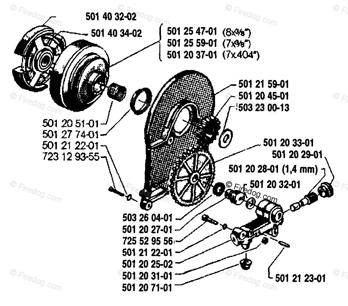 MTQ0NDg4Nw 6a776e57 husqvarna chain saw 77 (1987 12) oem parts diagram for oil pump