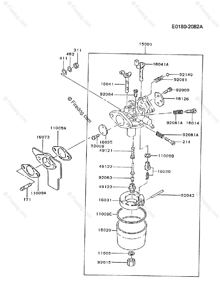 Kawasaki 4 Stroke Engine Fz340d Oem Parts Diagram For Carburetor Diagrams