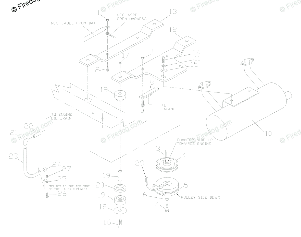 Husqvarna Ride Mower Turf Care Zth 6127 Kob 968999224 2002 10 Engine Assembly Diagram Oem Parts For Kohler