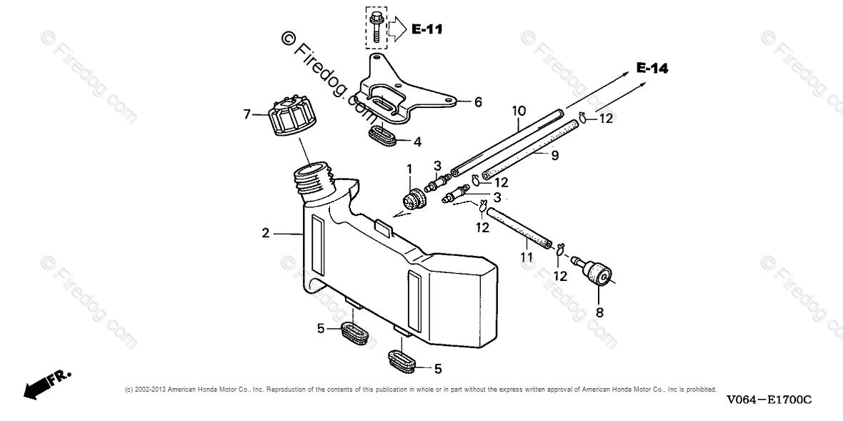 honda power equipment rototiller fg100 a1  a rototiller  usa  vin  fzcv