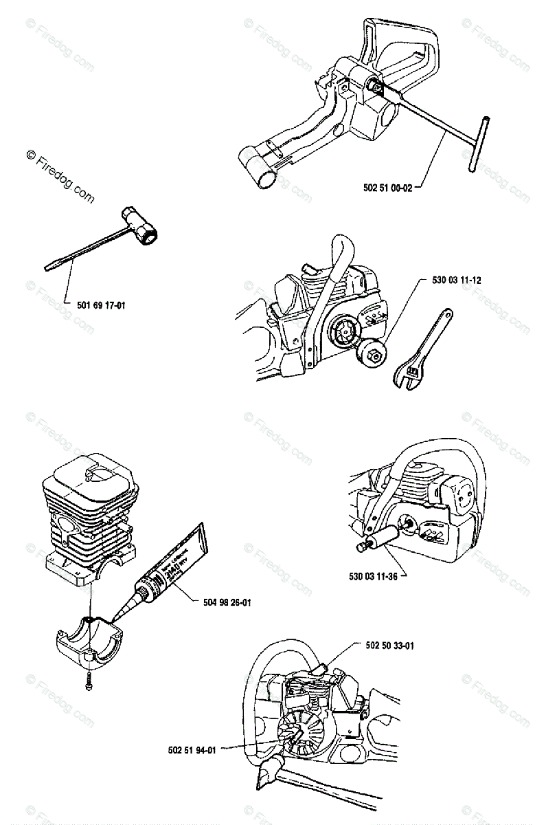 Husqvarna Chain Saw 41 (1991-06) OEM Parts Diagram for Service Tools -  Firedog.com