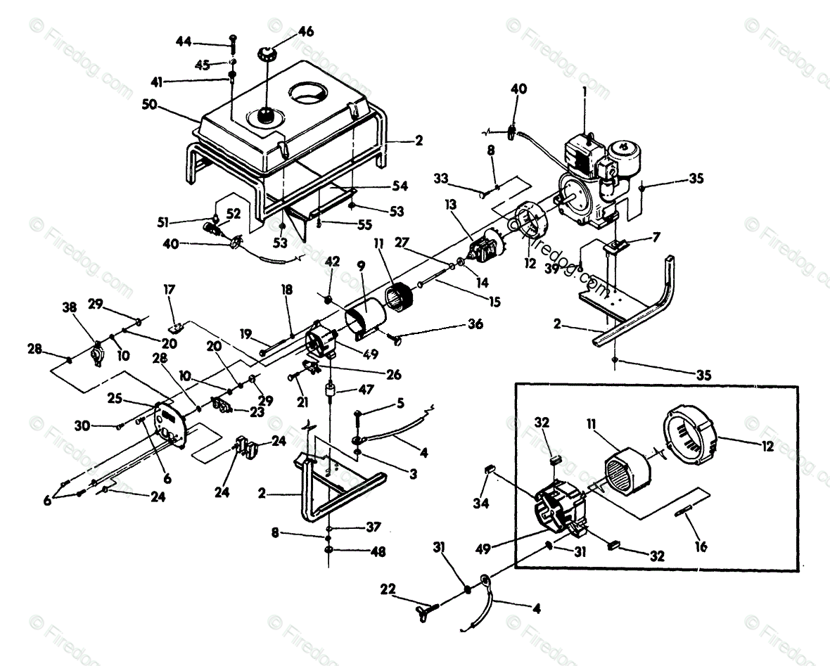 Briggs Stratton Power Products United States Portable Generators Electric Generator Diagram Design A Dc Electrical Oem Parts For Ep 4600 Bs 9 Hp Engine No 90541