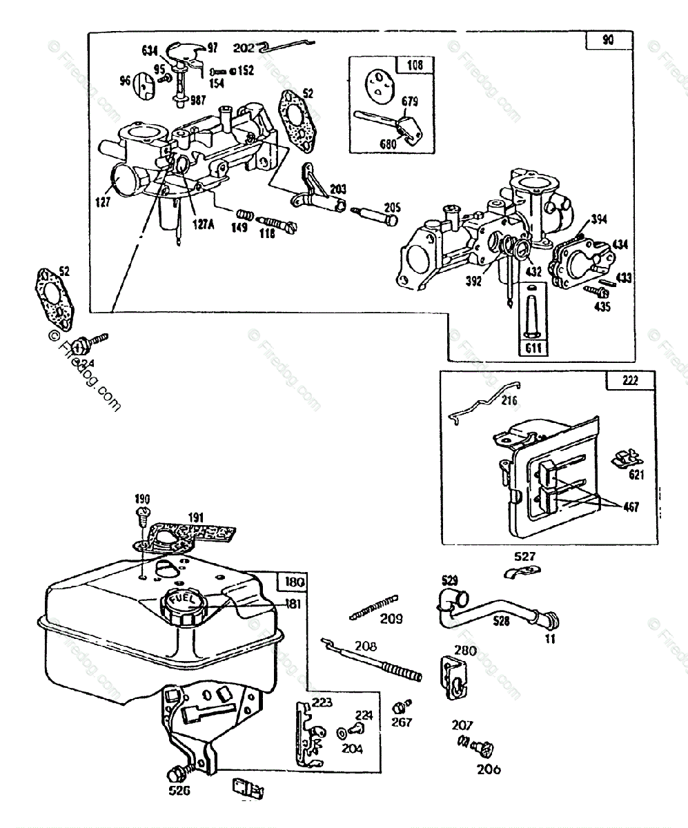 Briggs Stratton Power Products United States Portable Generators And Carburetor Parts Diagram Oem For Choke Tank