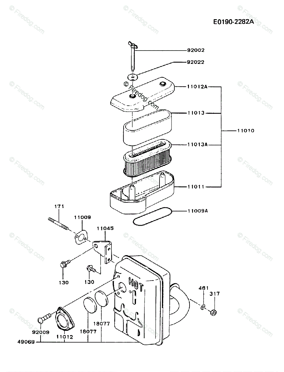 Kawasaki Fb460v Parts Diagram Electrical Wiring Diagrams Fh680v 4 Stroke Engine Oem For Air Filter