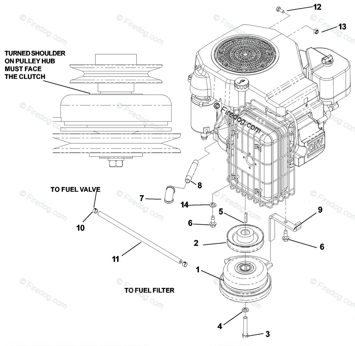 Husqvarna Ride Mower Turf Care Cz 4817 Koa 968999220 2002 11 Kohler Engine Parts Diagram Oem For Assembly