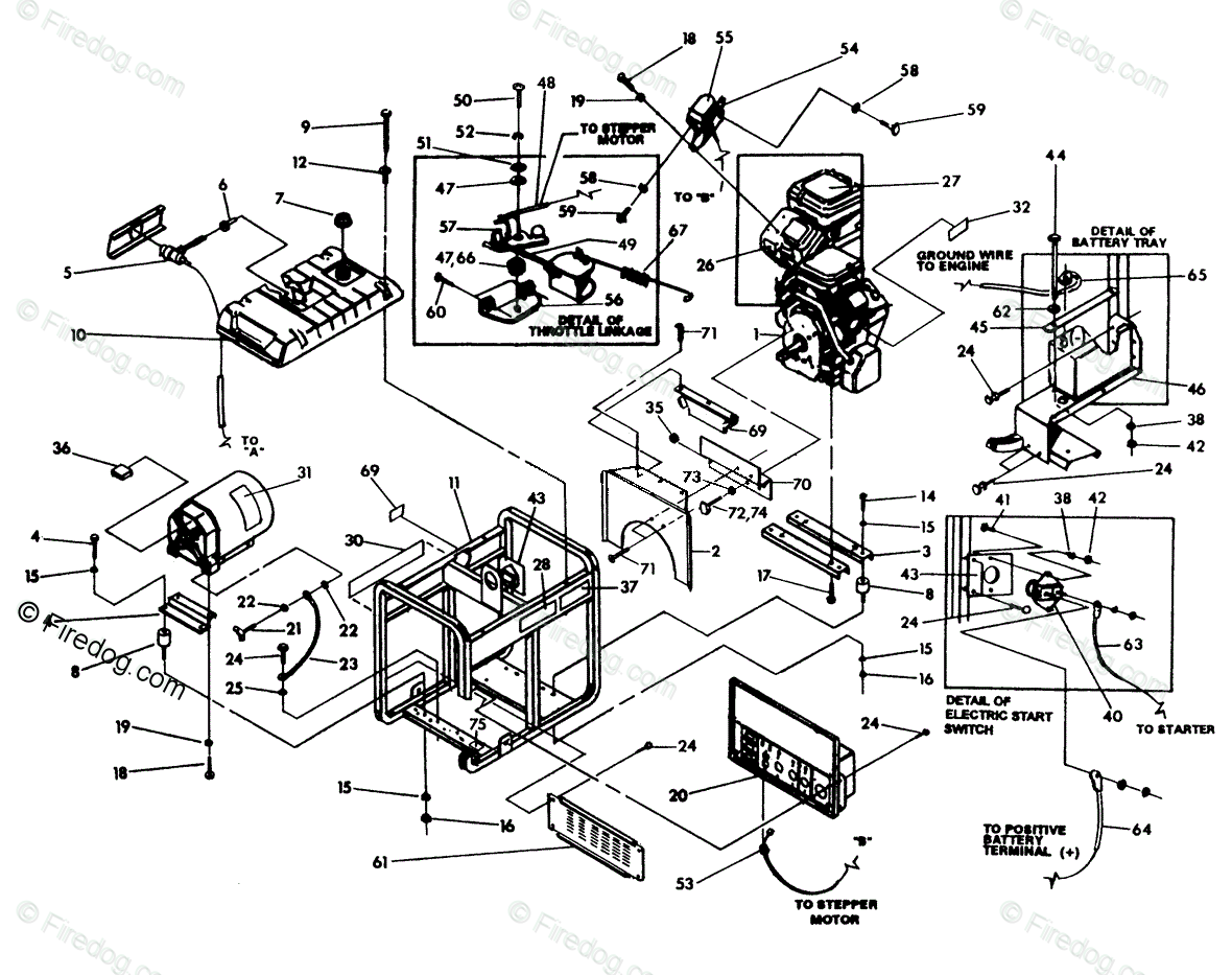 Briggs Stratton Power Products United States Portable Generators Oem Parts Diagram For Generator Cradle Firedog Com