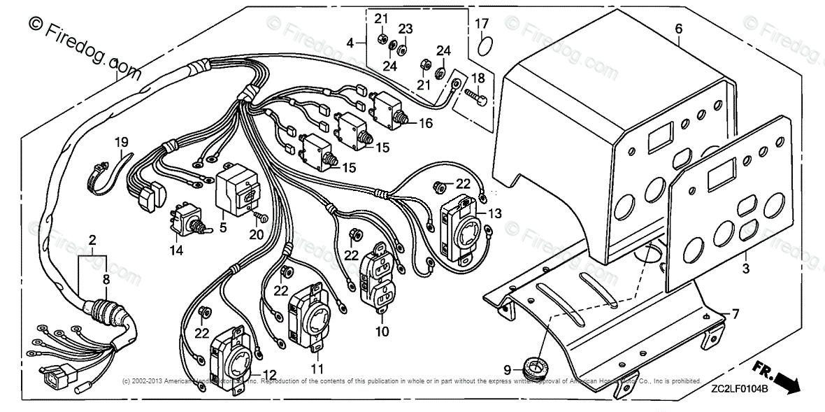 Honda Power Equipment Generator Eg5000xk1 Ac Generator Jpn Vin