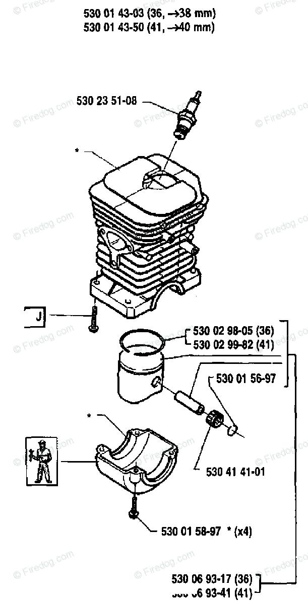 Husqvarna Chain Saw 41 (1991-06) OEM Parts Diagram for