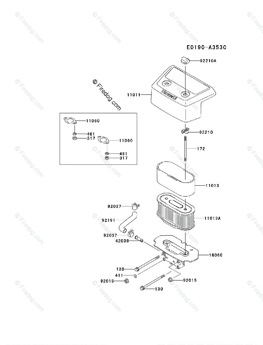 kawasaki 4 stroke engine fh721v oem parts diagram for air filter 20 hp kawasaki engine kawasaki 4 stroke engine fh721v oem parts diagram for air filter muffler firedog com