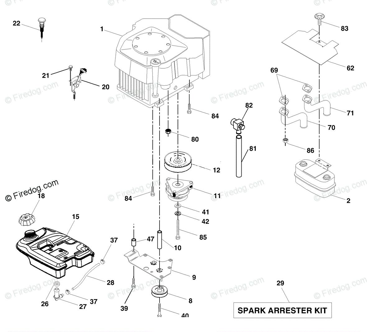 Husqvarna Ride Mower Gth 2548 Logt25h48b 954572134 2004 02 Oem Engine Diagram Parts For