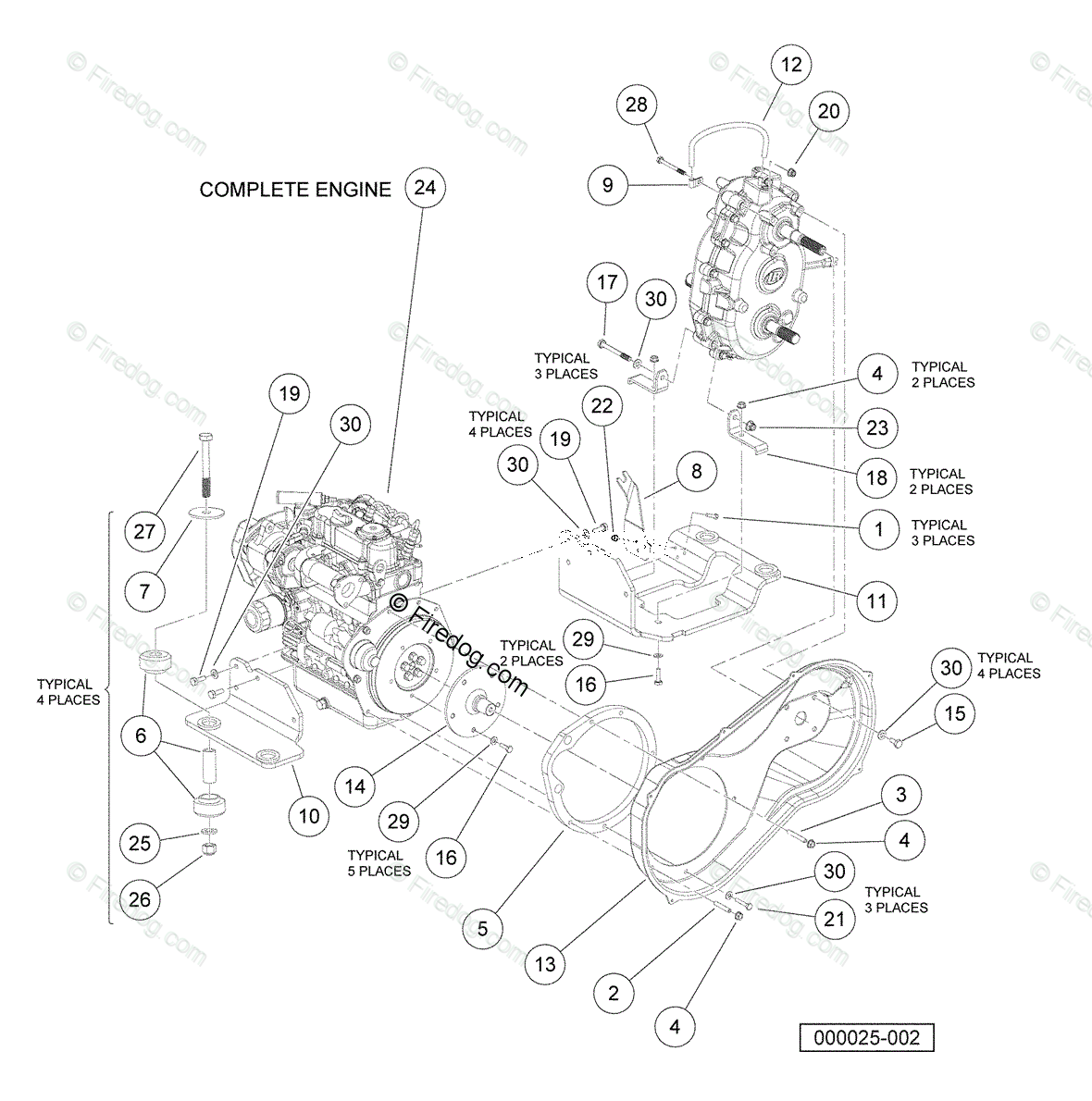 Kubota Diesel Engine Parts Manual D722