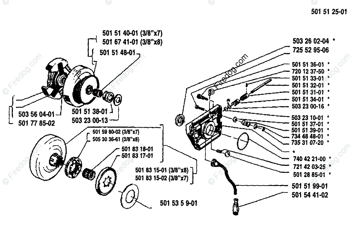 Husqvarna Chain Saw 266 (1988-06) OEM Parts Diagram for Oil Pump