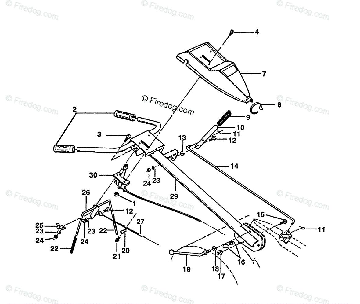 Husqvarna Tiller CRT 50 (HRT5B) (1990-11) OEM Parts Diagram for Handle  Assembly - Firedog.com