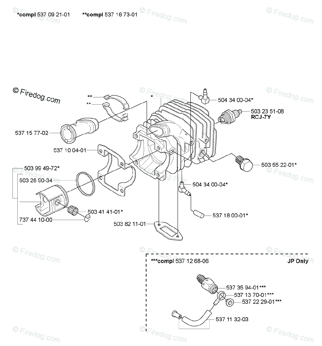 Husqvarna Chain Saw 336 (2006-09) OEM Parts Diagram for