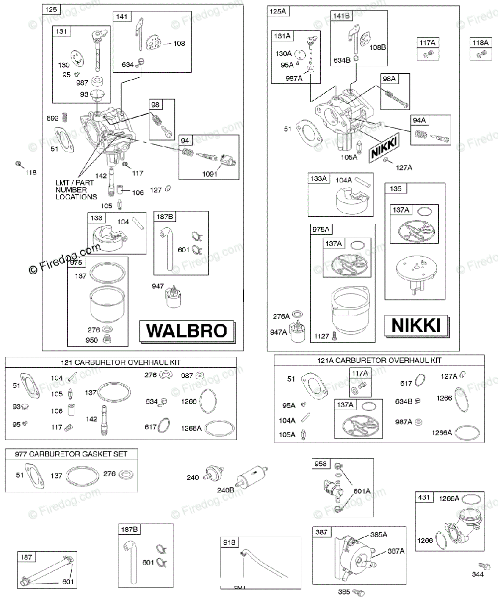 Briggs Stratton 200000 399999 Series 280h00 To 280h99 Oem Parts And Carburetor Diagram For Fuel Supply Kit Overhaul