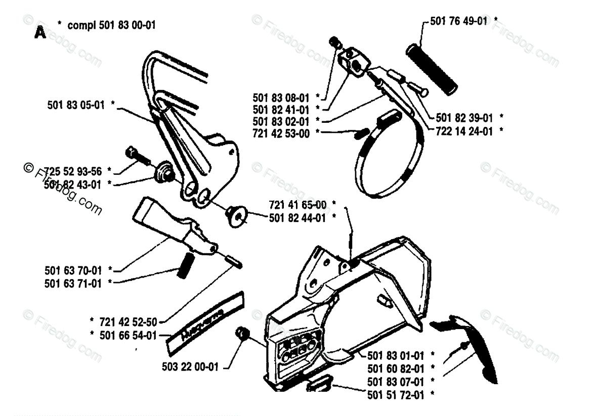 Husqvarna Chain Saw 266 (1981-09) OEM Parts Diagram for Chain Brake
