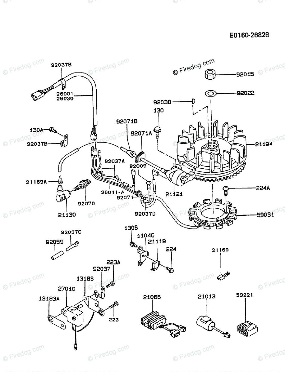 Kawasaki 4 Stroke Engine FC420V OEM Parts Diagram for ELECTRIC-EQUIPMENT |  Firedog.comFiredog.com