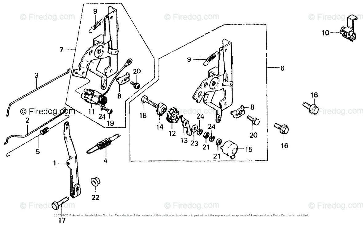 Honda Engines Engine GV OEM Parts Diagram for CONTROL LEVER + GOVERNOR ARM  - Firedog.com