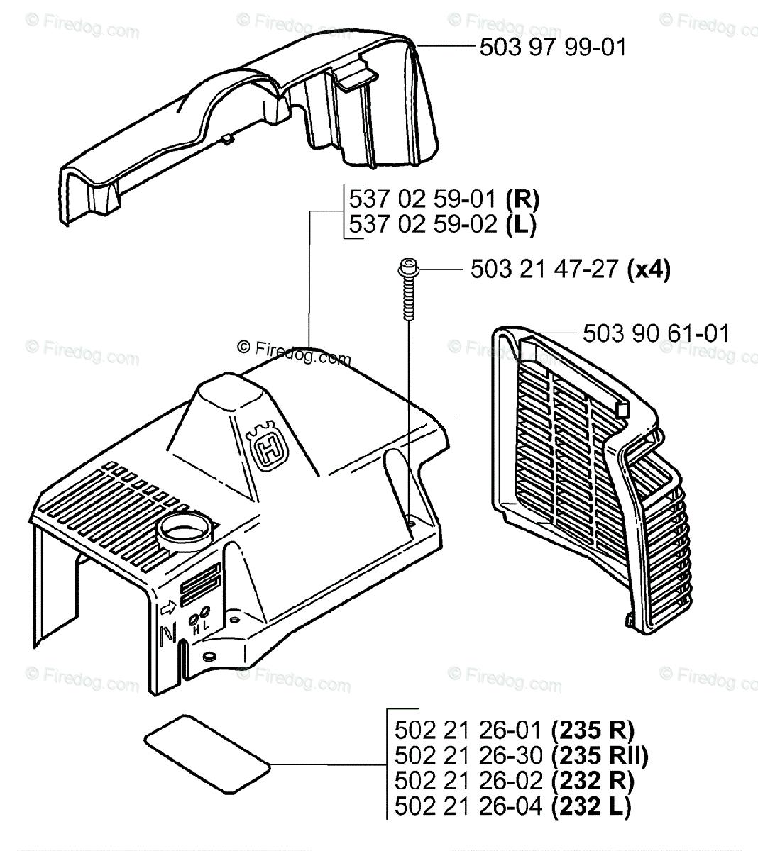 Husqvarna Trimmer 232 L (2006-01) OEM Parts Diagram for
