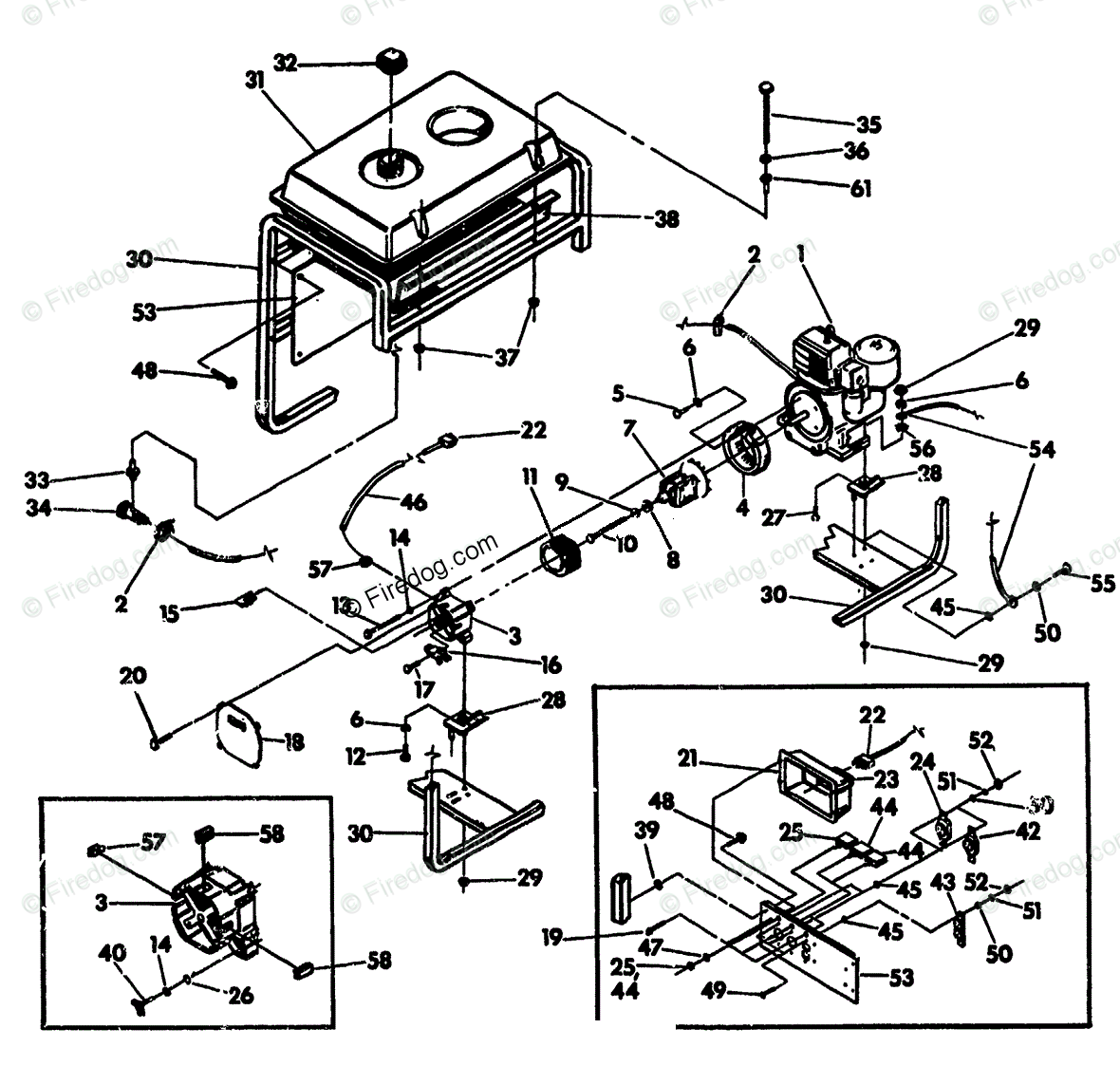 Briggs And Stratton 15 5 Hp Parts Diagram Wiring Library 26 Engine Power Products United States Portable Generators Oem For Tecumseh 10