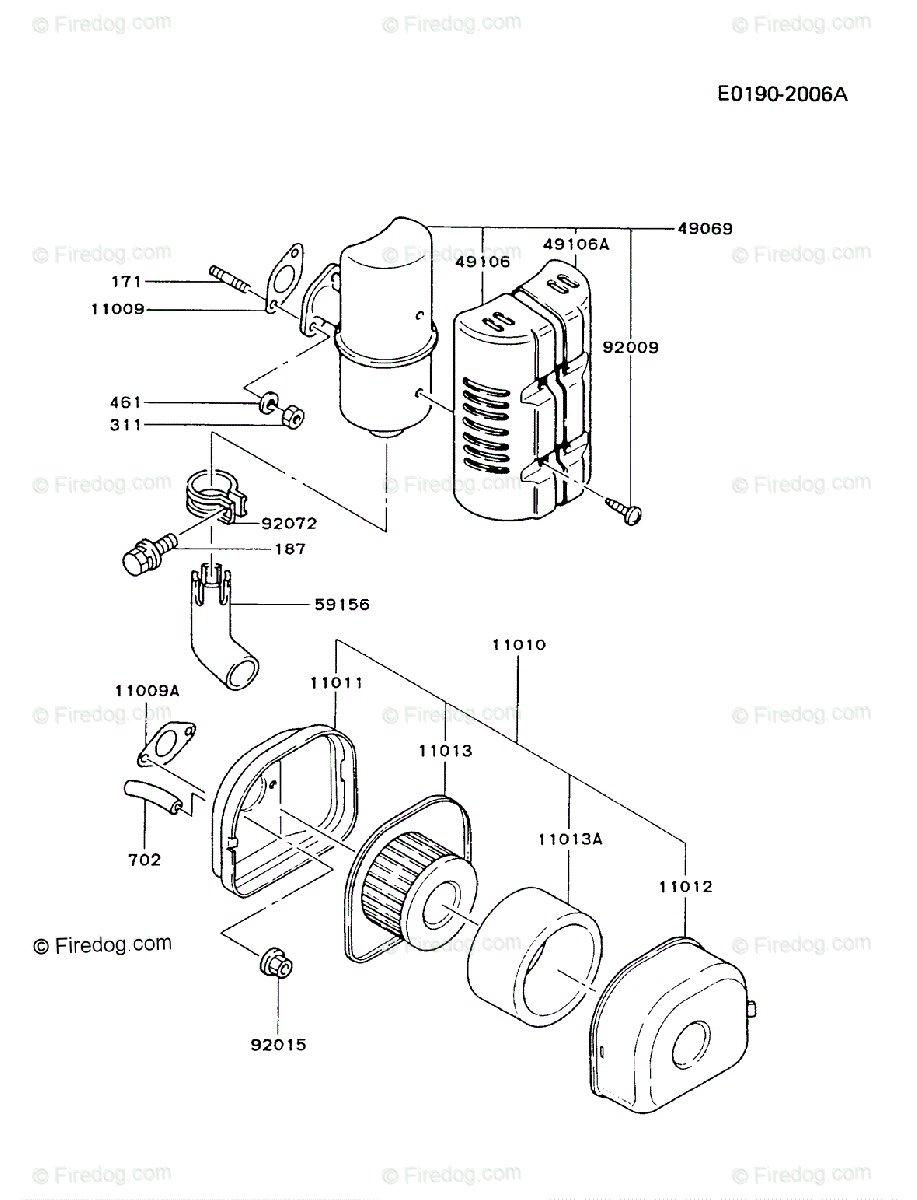 Kawasaki 4 Stroke Engine Fg150d Oem Parts Diagram For Air Filter Check Availability