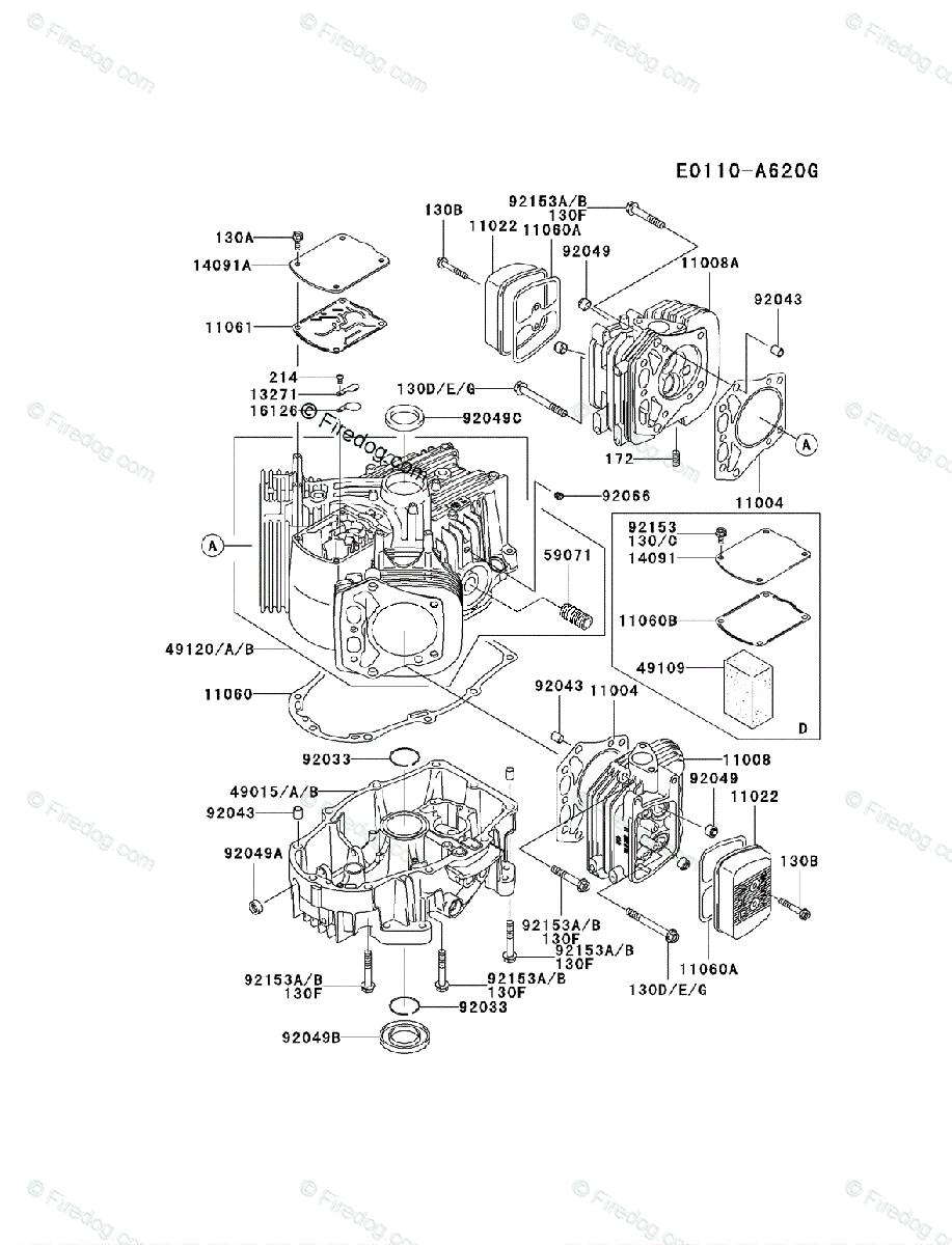 Kawasaki 4 Stroke Engine Fh601v Oem Parts Diagram For