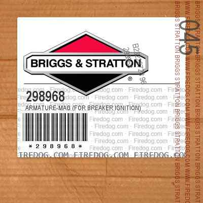 298968 Armature-Mag (For Breaker Ignition)