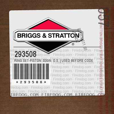 293508 Ring Set-Piston .020in. O.S. | Used Before Code Date 5810060