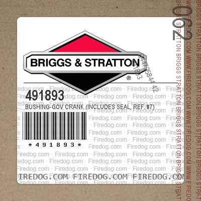 491893 Bushing-Gov Crank (Includes Seal, Ref. 87)