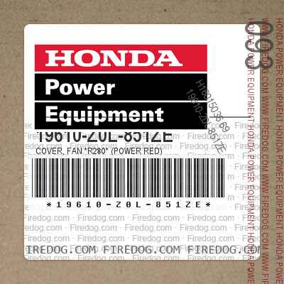 19610-Z0L-851ZE COVER, FAN *R280* (POWER RED)