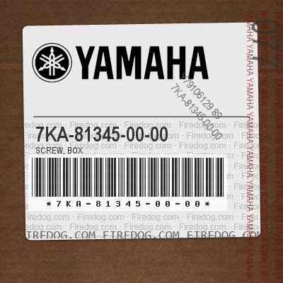 7KA-81345-00-00 SCREW, BOX