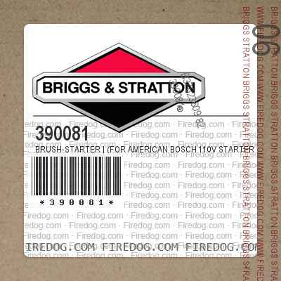 390081 Brush-Starter   (For American Bosch 110V Starters)