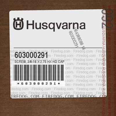 603000291 Screw, 3/8-16 X 2.75 Hx Hd Cap