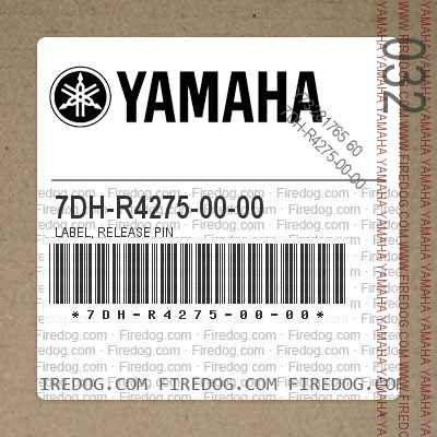 7DH-R4275-00-00 LABEL, RELEASE PIN