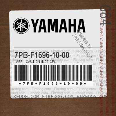 7PB-F1696-10-00 LABEL, CAUTION (NOTICE)