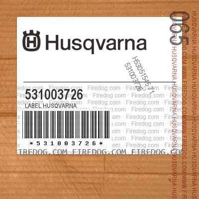 531003726 LABEL HUSQVARNA