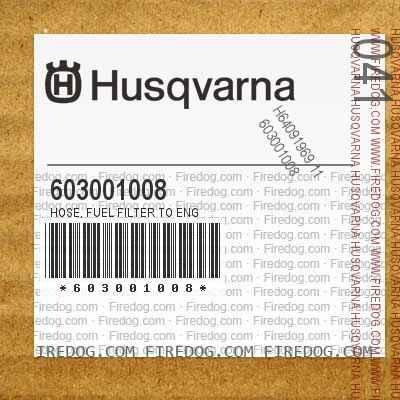 603001008 Hose, Fuel Filter To Eng