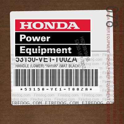 53150-VE1-T00ZA HANDLE (LOWER) *NH105* (MAT BLACK)