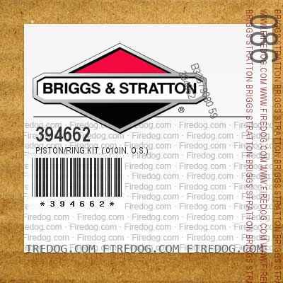 394662 Piston/Ring Kit (.010in. O.S.)